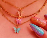Butterfly Kisses Necklace - Thick