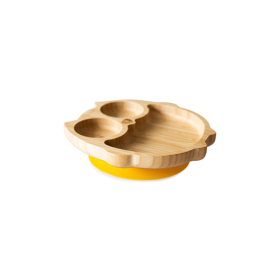 Bamboo suction and section plate - Owl