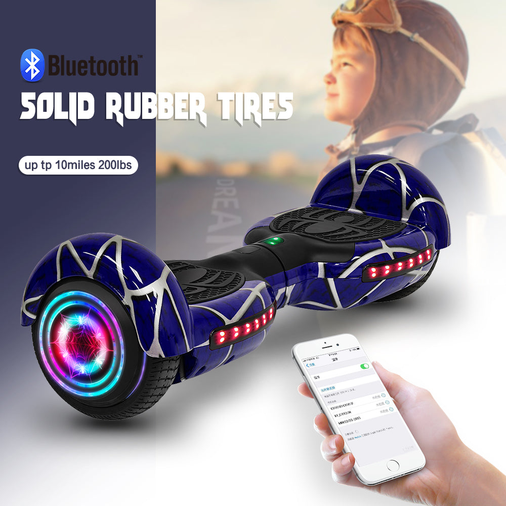 "2020 New Blue Spiderman 350W 15KM/H 6.5"" Hoverboard"