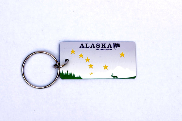 Alaska License Plate Keychain