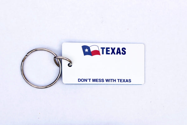 Texas Don't Mess License Plate Keychain