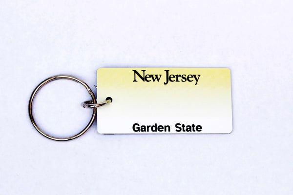 New Jersey License Plate Keychain