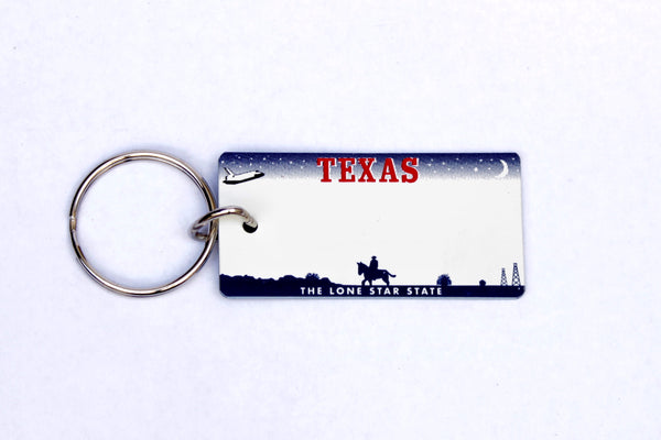 Texas License Plate Keychain