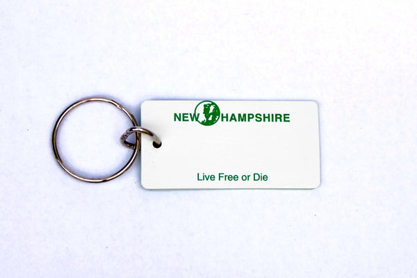 New Hampshire License Plate Keychain