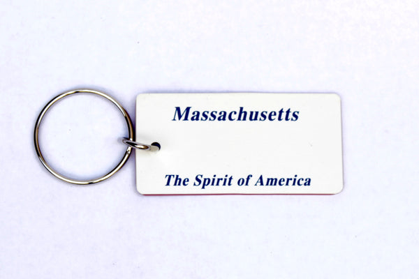 Massachussetts License Plate Keychain