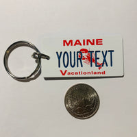 Maine License Plate Keychain