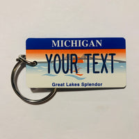Michigan License Plate Keychain
