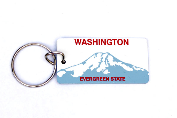 Washington License Plate Keychain