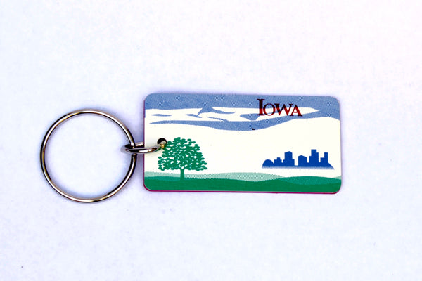 Iowa License Plate Keychain