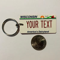 Wisconsin License Plate Keychain