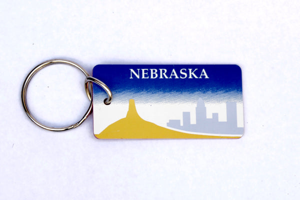 Nebraska License Plate Keychain