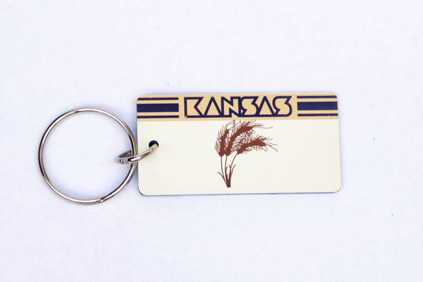 Kansas License Plate Keychain