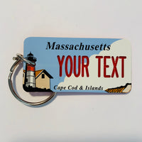 Massachusetts License Plate Keychain