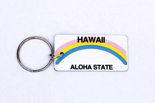 Hawaii License Plate Keychain