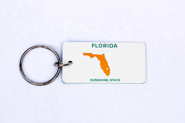 Florida Map License Plate Keychain