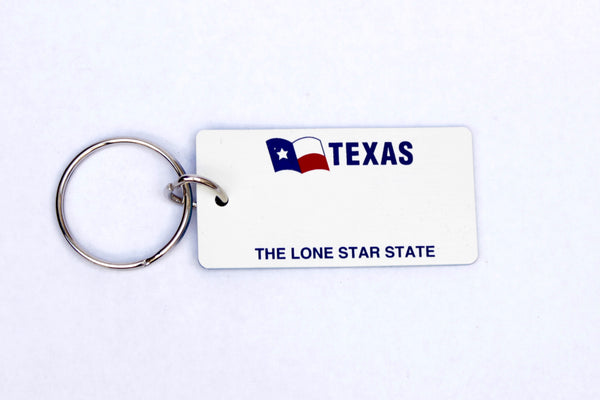 Texas The Lone Star License Plate Keychain