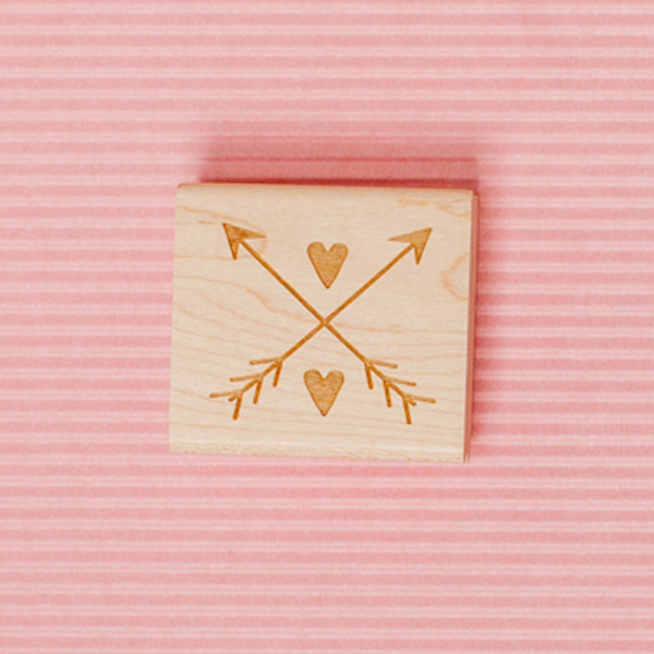 Art Stamp--2 hearts and 2 arrows