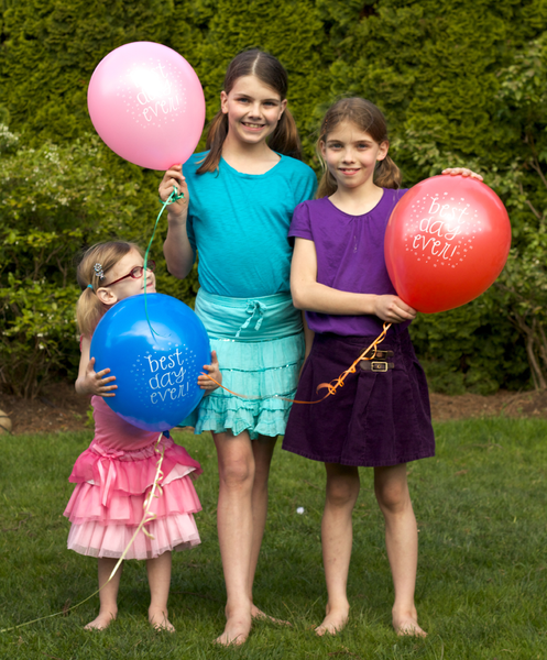 """Best day ever!"" Printed Party Balloons"