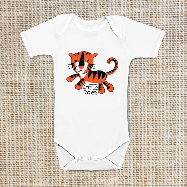 Little Tiger Onesie, Baby Bodysuit, 100% cotton, 6 mo, 12 mo