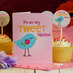 Valentine's Card with tweet bird