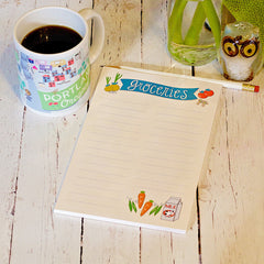 Groceries List Notepad