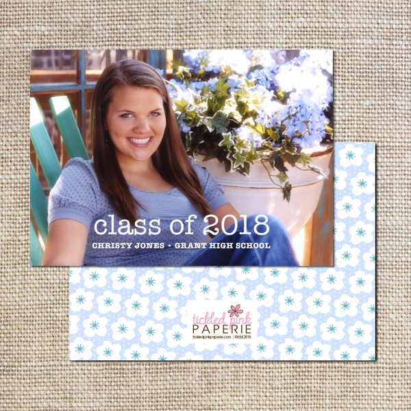 Graduation Announcement--Hydrangeas