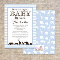 Safari Animal Baby Shower