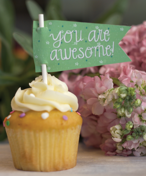 """You are awesome!"" Treat Toppers"