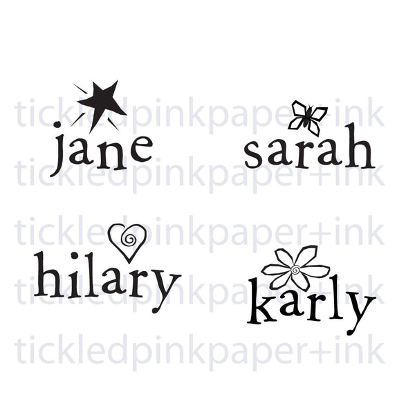 New Baby Name Great Kiddo Party Favor Stamp