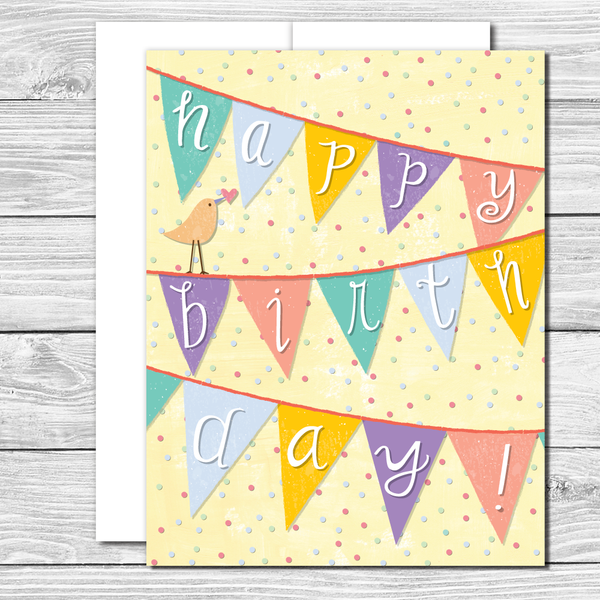 It's a banner birthday! Hand drawn birthday card