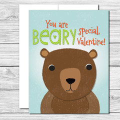 Valentine's Card with cute bear