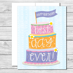 Best day ever! Hand drawn birthday card
