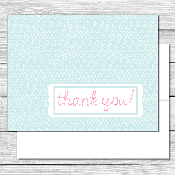 Thank you Notes--Blue Daisies