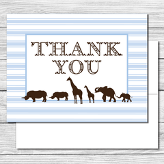 Thank you Notes--Safari Animals