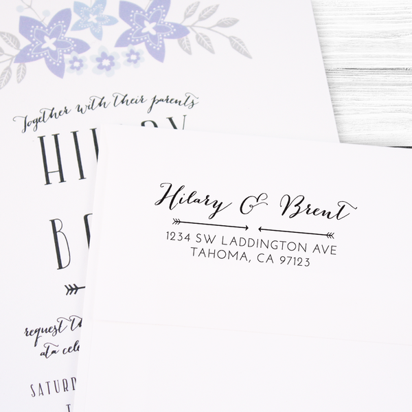 Modern Formal Calligraphy Return Address Stamp