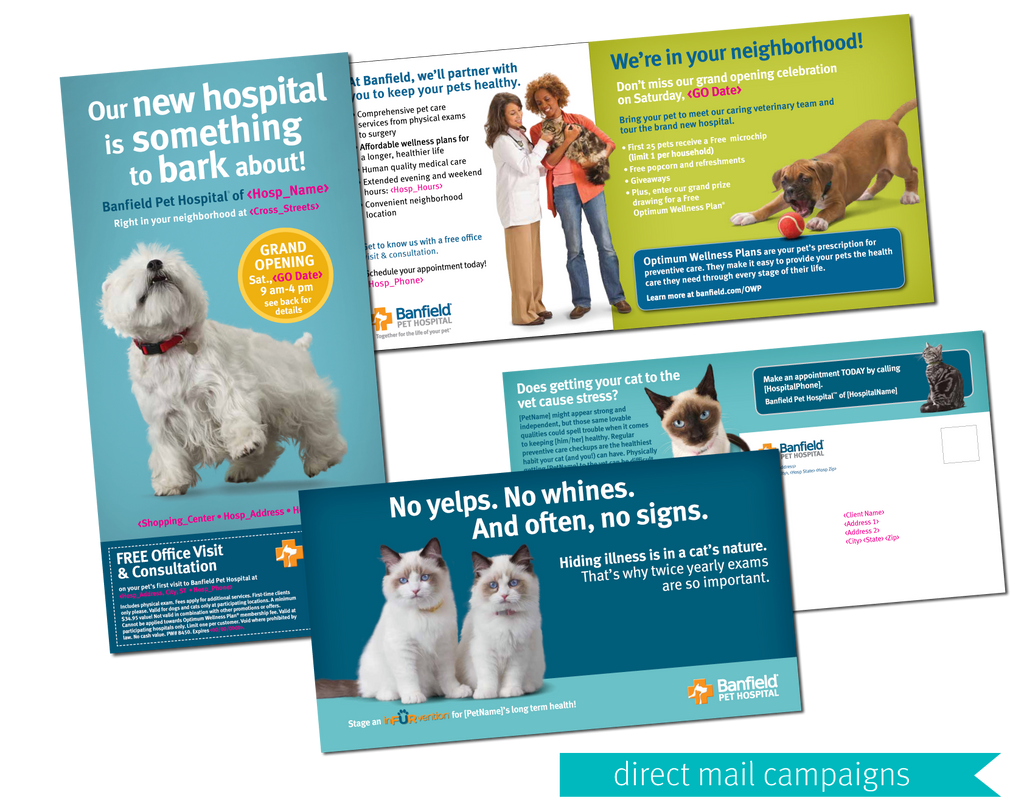 Banfield Pet Hospital Direct Mail Campaign