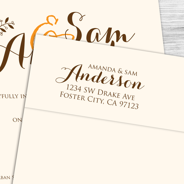 Formal Calligraphy Return Address Stamp