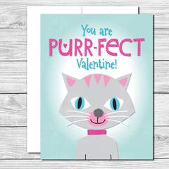 Valentine's Card with cute kitty