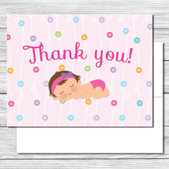 Thank you Notes--Cute as a Button Party