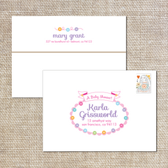 Cute as a Button Printed Envelopes