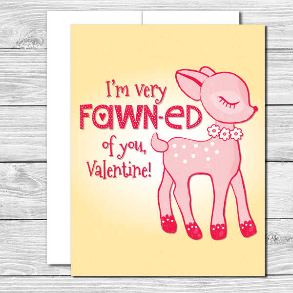 Valentine's Card with sweet deer