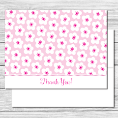 Thank you Notes--Mama and Baby Bird Flowers