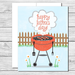 Happy Father's Day to the Chef! Hand drawn Father's Day card