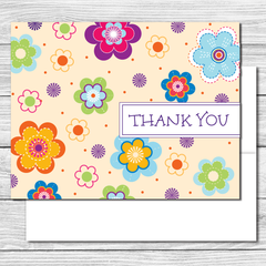 Thank you Notes--Fun Flowers