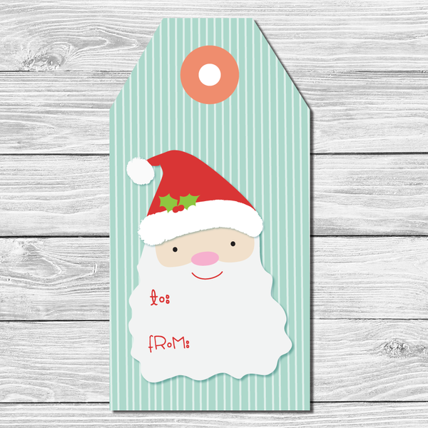 Santa Holiday Gift Tags