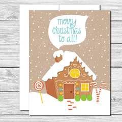 Merry Christmas to all! Hand drawn greeting card
