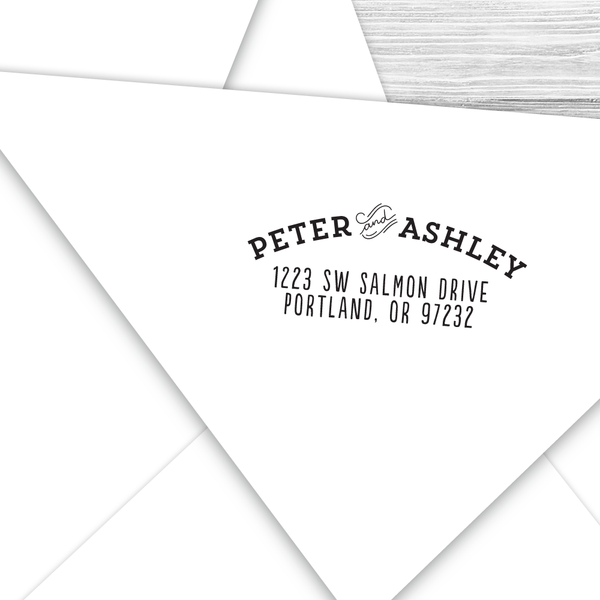 Curved Vintage Address Stamp