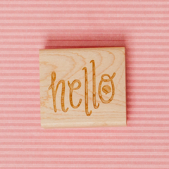 Art stamp--Hello with speech bubble