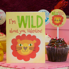 Valentine's Card with wild lion