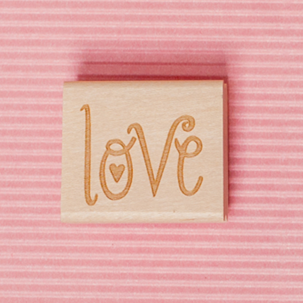 Art Stamp--Love with a heart